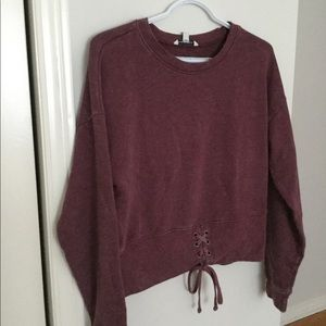 American eagle outfitter burgundy top